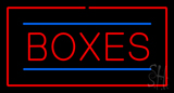 Boxes Rectangle Red LED Neon Sign