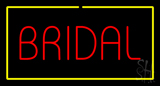 Bridal Rectangle Yellow LED Neon Sign