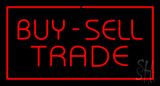 Buy Sell Trade with Red Border LED Neon Sign