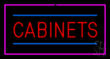 Cabinets Rectangle Purple LED Neon Sign