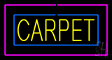 Carpet Rectangle Purple LED Neon Sign