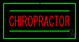 Chiropractor Rectangle Green LED Neon Sign