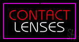 Contact Lenses with Pink Border LED Neon Sign