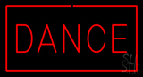 Red Dance with Red Border LED Neon Sign