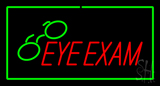Eye Exam with Green Border LED Neon Sign