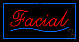 Red Facial Blue Border LED Neon Sign