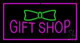 Gift Shop Rectangle Purple LED Neon Sign