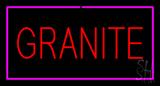 Granite Rectangle Purple LED Neon Sign