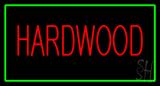 Hardwood Rectangle Green LED Neon Sign