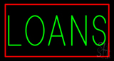 Green Loans with Red Border LED Neon Sign
