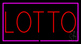 Red Lotto Pink Border LED Neon Sign