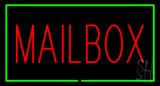 Mailbox Rectangle Green LED Neon Sign