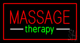 Red Massage Therapy Red Border LED Neon Sign