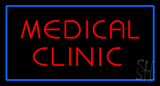 Medical Clinic Rectangle Blue LED Neon Sign