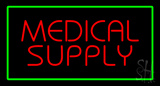 Red Medical Supply Green Border LED Neon Sign