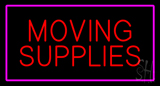 Moving Supplies Rectangle Purple LED Neon Sign