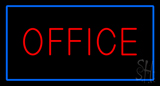 Red Office Blue LED Neon Sign