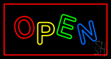 Open Rectangle Red LED Neon Sign