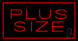Red Plus Size Red Border LED Neon Sign