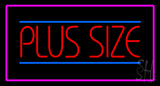 Plus Size Pink Border LED Neon Sign