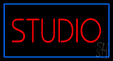 Red Studio Blue Rectangle LED Neon Sign