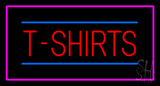 T-Shirts Rectangle Pink Border  LED Neon Sign