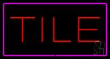 Tile Rectangle Purple LED Neon Sign