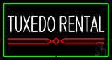 Tuxedo Rental  Rectangle Green LED Neon Sign