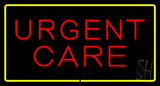 Red Urgent Care Yellow Border LED Neon Sign