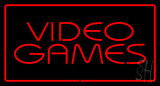 Video Games Rectangle Red LED Neon Sign