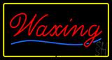 Waxing Yellow Border LED Neon Sign
