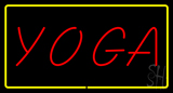 Red Yoga with Yellow Border LED Neon Sign