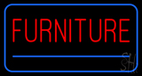 Furniture Rectangle Blue LED Neon Sign