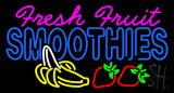 Pink Fresh Fruit Smoothies LED Neon Sign