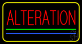Red Alteration Blue Green Line Yellow Border LED Neon Sign