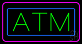 Green ATM Pink Blue Border LED Neon Sign