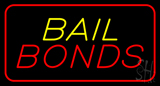 Bail Bonds Red Border LED Neon Sign
