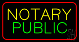 Notary Public Red Border LED Neon Sign