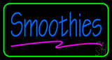 Blue Smoothies with Green Border LED Neon Sign