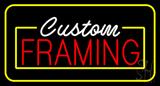 Custom Framing Yellow Border LED Neon Sign