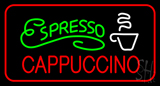 Green Espresso Red Cappuccino with Red Border LED Neon Sign