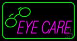 Pink Eye Care Logo Green Border LED Neon Sign