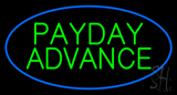 Blue Oval Payday Advance LED Neon Sign