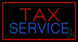 Red Tax Service Red Border LED Neon Sign