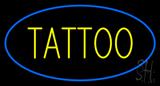 Oval Tattoo Blue Border LED Neon Sign