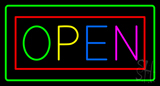 Open Multi Color LED Neon Sign