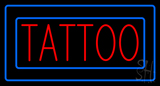 Red Tattoo Blue Borders LED Neon Sign