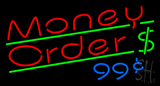 Red Money Order Dollar Logo LED Neon Sign