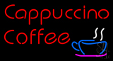 Red Cappuccino Coffee LED Neon Sign