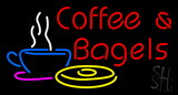 Red Coffee and Bagels LED Neon Sign